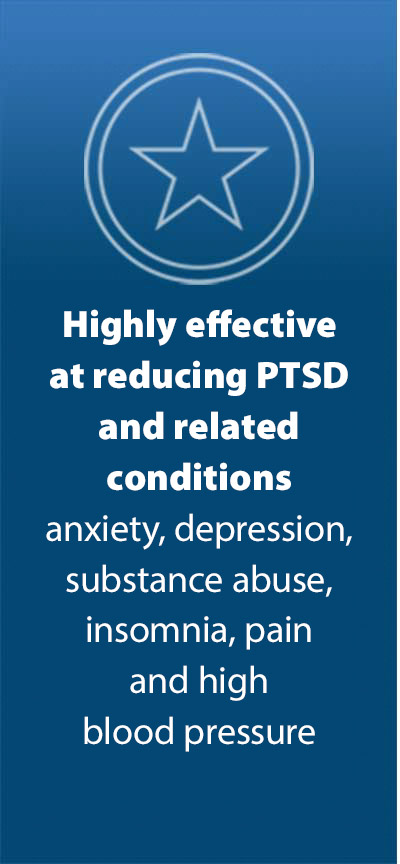Highly effective at reducing PTSD and related conditions