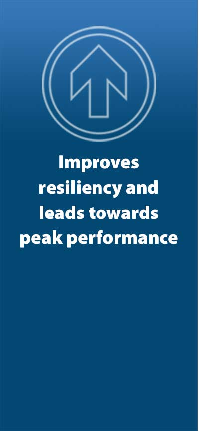 Improves resiliency and leads towards peak performance