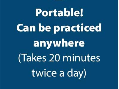 Portable! Can be practiced anywhere